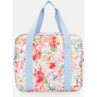 WHITE FLORAL Picnic cool bag Printed and Fully Insulated  Size One Size