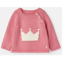 Pink Crown Beau Knitted Jumper  Size 3M-6M