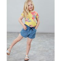 Yellow Floral Liv Tie Sleeve Top 3-12 Yr  Size 4Yr