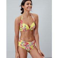 LEMON FLORAL Bonnie Bikini Top  Size 16