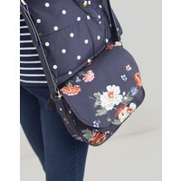 Navy Floral Darby Canvas Saddle Bag  Size One Size
