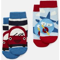 Multi Car And Plane Neat Feet Pack Of Two Character Socks  Size 0M-6M
