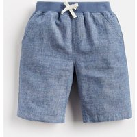 Chambray Huey Linen Mix Woven Short 1-12 Yr  Size 7Yr-8Yr