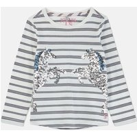 Navy Stripe Horse Ava Applique T-Shirt 3-12 Years  Size 5Yr