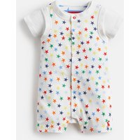 WHITE STAR JUMBLE Jonah Jersey Babygrow And Top Set  Size 9m-12m