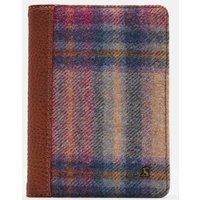 Multi Pink Check Jetsetter Tweed Passport Holder  Size One Size