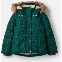 Ivy Green Stars Stella Faux Fur Lined Padded Coat 1-12 Years  Size 7Yr-8Yr