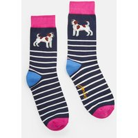 NAVY TERRIER Brilliant bamboo Single Socks  Size 4-8