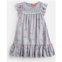 BLUE POSY STRIPE Posy Frill Sleeve Dress 3-12 Yr