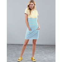 Gold Stripe Francis Square Neck Jersey Dress  Size 8