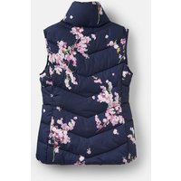 FRENCH NAVY BLOSSOM 204514 Padded High Neck Gilet  Size 16