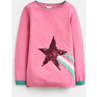 Blossom Pink Shooting Star Miranda Intarsia Jumper 3-12 Years  Size 6Yr