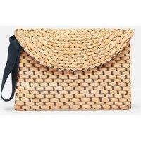 Hadden Woven Straw Clutch Bag