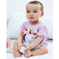 Purple Swimming Cat Clara Applique T-Shirt Set  Size 6M-9M