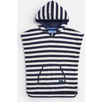 Cream Navy Stripe Rockpooler Towelling Cover Up 1-12 Yr  Size 5Yr