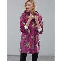Berry Peony Golightly Print Waterproof Packaway Jacket  Size 16