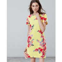 Lemon Floral Riviera Print Dress With Short Sleeves  Size 18