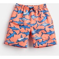 Orange Sharks Ocean Swim Shorts 1-12 Yr  Size 4Yr