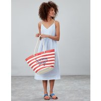 Red Stripe Sunny Seaside Summer Beach Bag  Size One Size