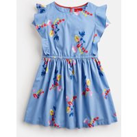 BLUE BOTANICAL BUNCH Tasha Woven Frill Sleeve Dress 3-12Yr  Size 5yr