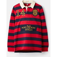 Red Navy Stripe Winner Stripe Rugby Shirt 3-12 Years  Size 9Yr-10Yr