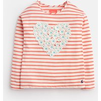 CREAM PINK STRIPE Cora APPLIQUE JERSEY TOP 3-12yr  Size 7yr-8yr