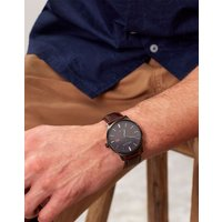 Marfield Brown Marfield Brown Mens Leather Strap Watch  Size One Size