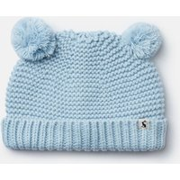Icy Blue Pom Pom Knitted Hat  Size 0M-6M