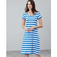 BLUE CREAM STRIPE Rayma Short Sleeve Swing Dress  Size 14