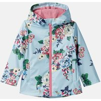 Light Blue Rabbit Floral Raindance Print Waterproof Rubber Coat 1-6 Years  Size 4Yr