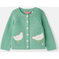 Green Chickens Dorrie Knitted Cardigan  Size Newborn