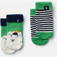 Green Sheep Terry 2Pk Towelling Socks