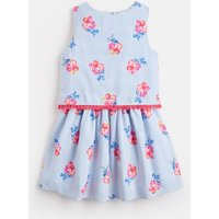 Blue Floral Stripe Imogen Woven Printed Dress 1-6 Years  Size 1Yr