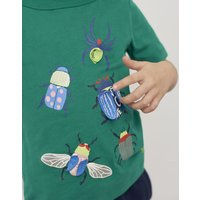 GREEN BEETLE Chomper Applique T-Shirt 1-6yr  Size 3yr