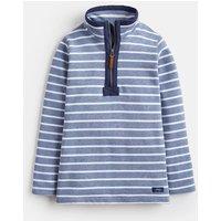 BLUE MARL STRIPE Dale saltwash Half Zip Sweatshirt 3-12 Yr  Size 7yr-8yr