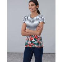 Cream Rose Border Nessa Print Lightweight Jersey T-Shirt  Size 6