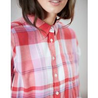 RED CHECK Lorena Relaxed Button Through Shirt  Size 14