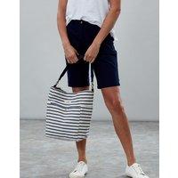 Blue Stripe Wayfield Stripe Bucket Bag