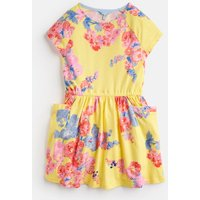 YELLOW FLORAL Jude JERSEY RAGLAN SLEEVE DRESS 3-12yr  Size 7yr-8yr