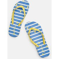 Blue Pear Stripe Flip Flops  Size Adult 5