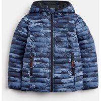BLUE CAMO Cairn print Packaway Padded Jacket 3-12yr  Size 4yr
