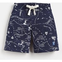NAVY TREASURE MAP Bucaneer Jersey Short 1-6 Yr  Size 4yr