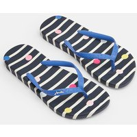 Navy Stripe Flip Flops  Size Adult Size 5