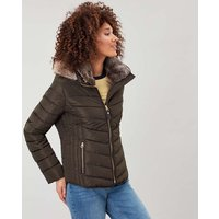 Gosway Chevron Quilt Padded Coat with Hood