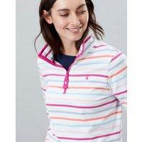 MULTI STRIPE Fairdale Sweatshirt With Zip Neck  Size 12