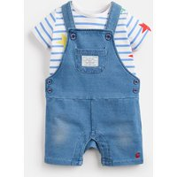 DENIM Duncan denim T-Shirt And Dungarees Set  Size 12m-18m