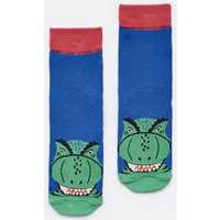 Blue Dino Eat Feet Character Socks  Size Childrens 13-3