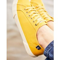 Antique Gold Coast Pump Canvas Lace Up Trainers