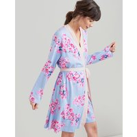 BLUE FLORAL Jasmine Printed Jersey Dressing Gown  Size S/M