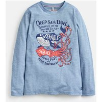 Blue Deep Sea Jack Applique T-Shirt 3-12 Years  Size 7Yr-8Yr